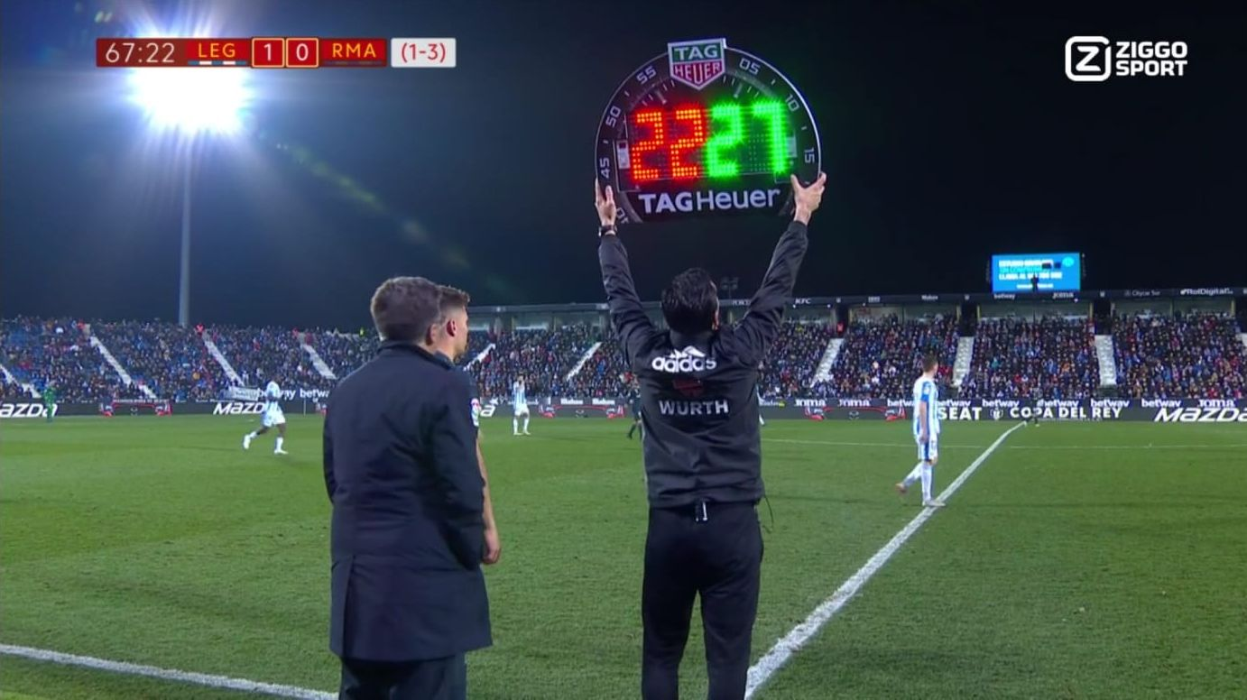 substitute hits 4th official