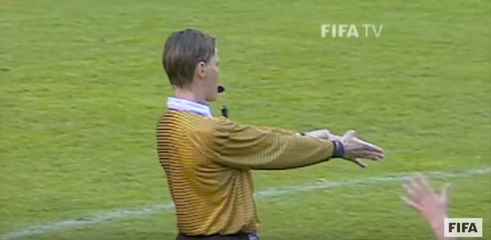 Ingrid Jonsson during her 1995 world Cup final