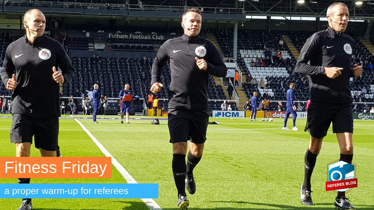 Warm-up for referees.