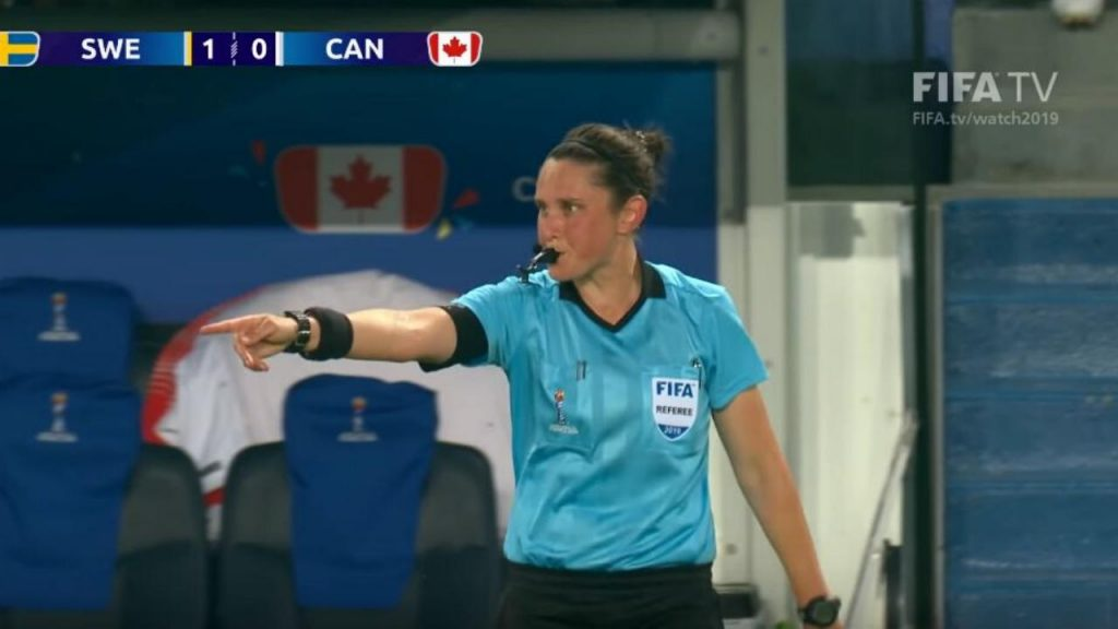 Kate Jacewicz during the Women's World Cup