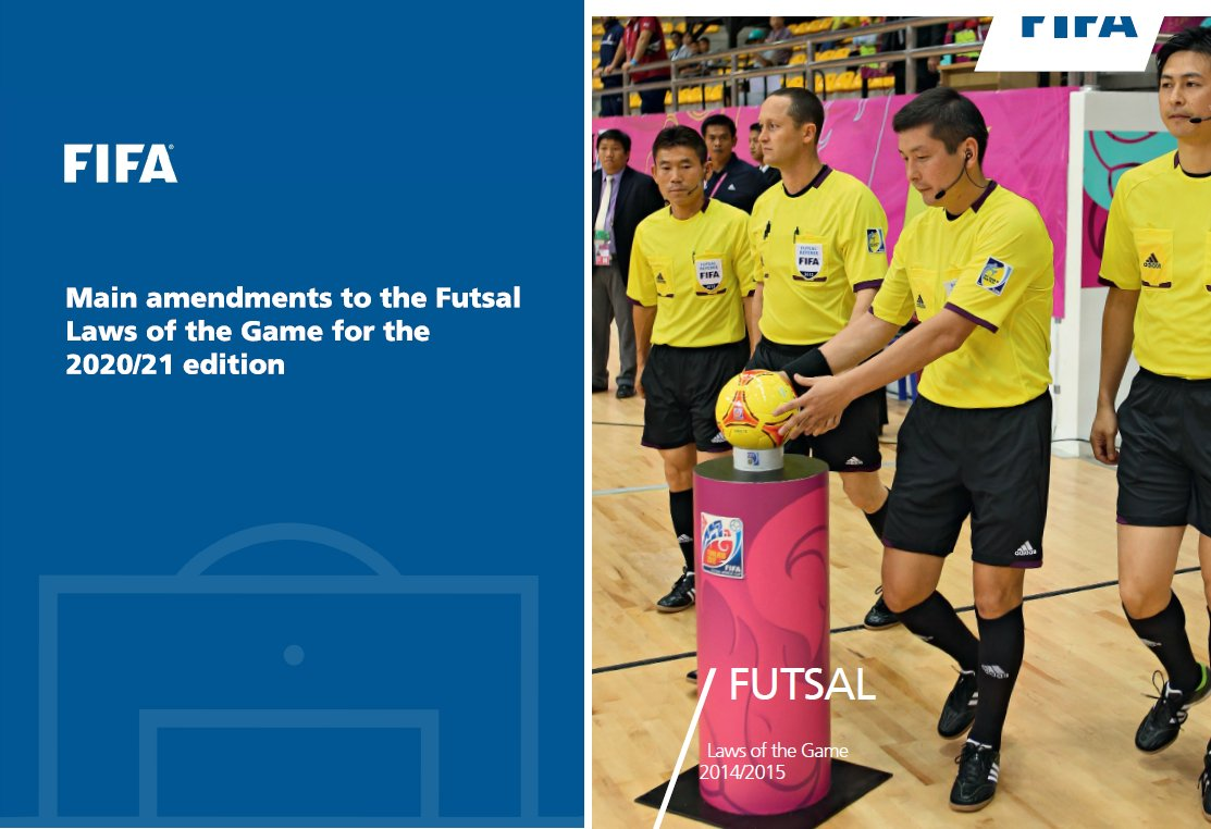 FIFA futsal Laws of the Game changes 2020-2021