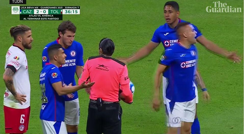 Ball touches match official