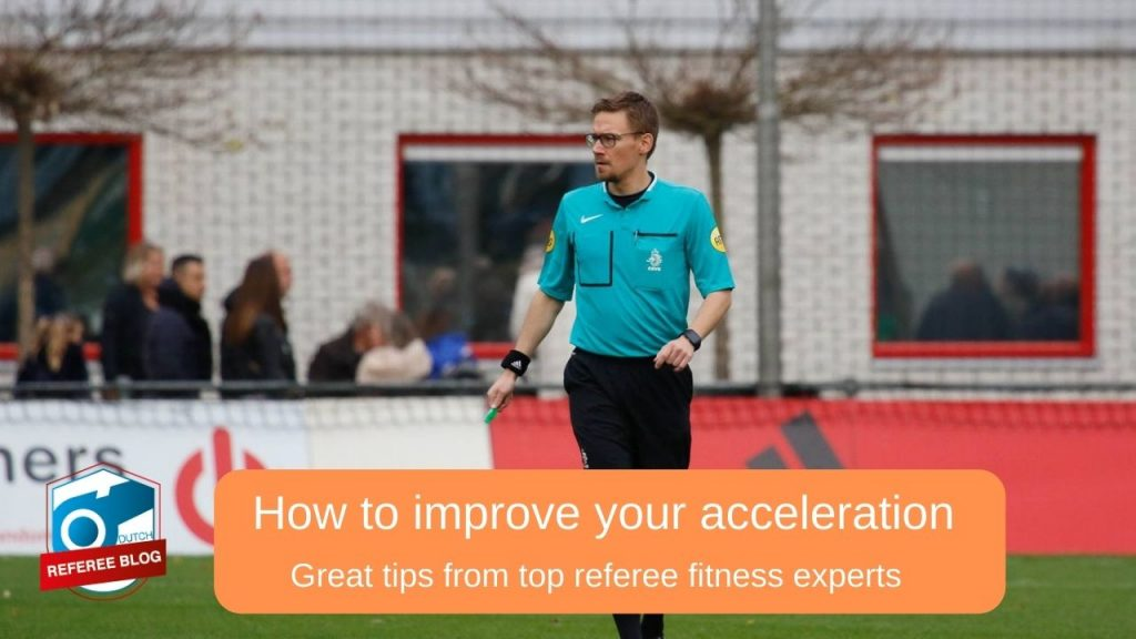 Improve acceleration as referee - photo of me in action