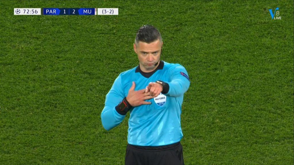 Referee Damir Skomina